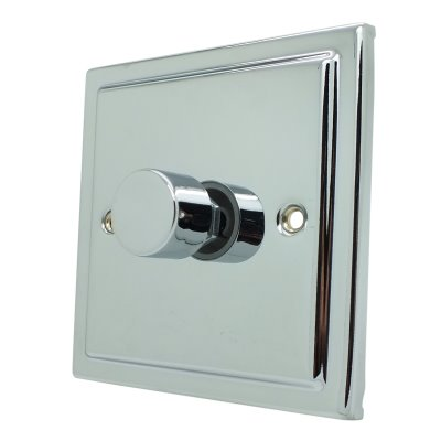 LAP Dimmer 1 Gang 2 Way Dimmer Light Switch BRUSHED CHROME 400W