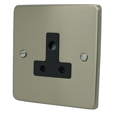 Trim Rounded Satin Nickel Trim Rounded Unswitched Socket