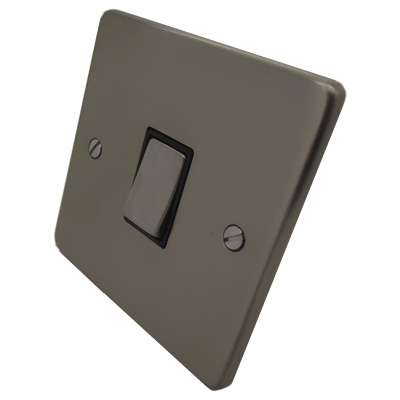 Trim Rounded Satin Nickel Trim Rounded Dimmer and Light Switch Combination